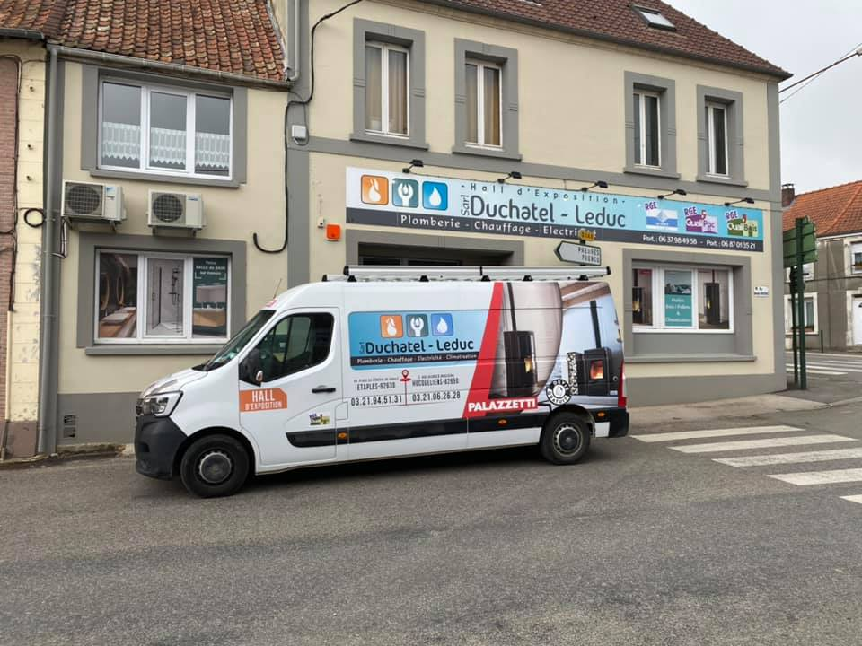 Photo représentant le magasin Duchatel Leduc situé à Etaples et qui propose comme services: chauffage, plomberie, électricité, climatisation.